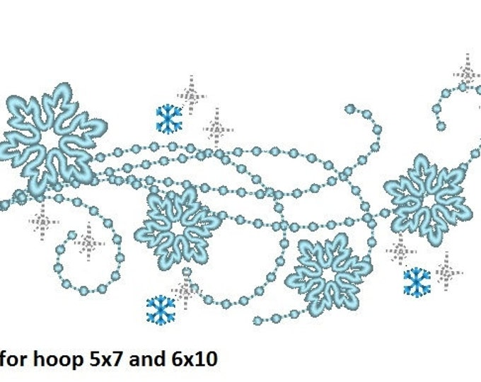 Frozen swirl sparkle tail - embroidery fill stitch designs for hoop 4x4, 5x7 and 6x10 INSTANT DOWNLOAD