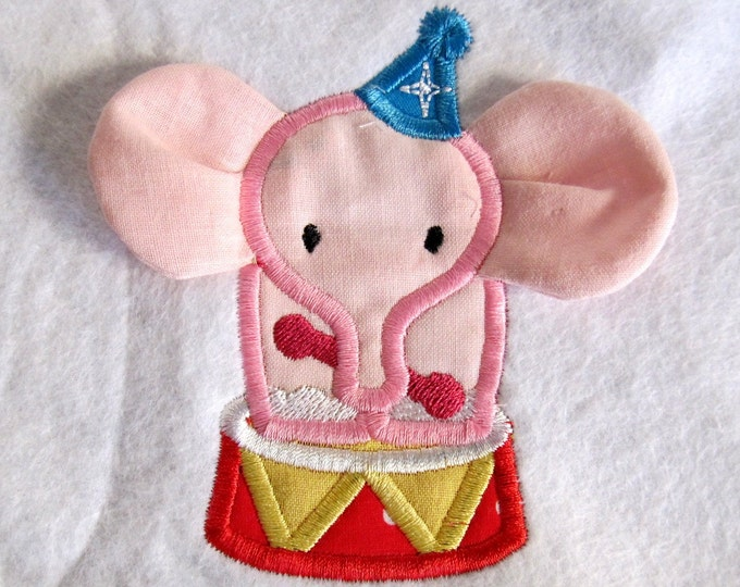 Elephant / from circus set - single file - 3D - machine embroidery applique designs - 4x4 and 5x7 INSTANT DOWNLOAD