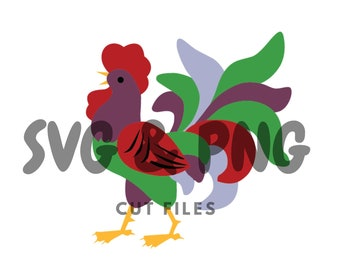 Vintage rooster kitchen SVG and PNG cut files to use with the Silhouette Cameo or Cricut