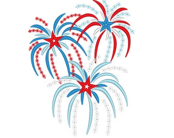 Fireworks, anniversary, firework embroidery designs - 4x4, 5x7 and 6x10, 4th of July fireworks embroidery designs files instant download
