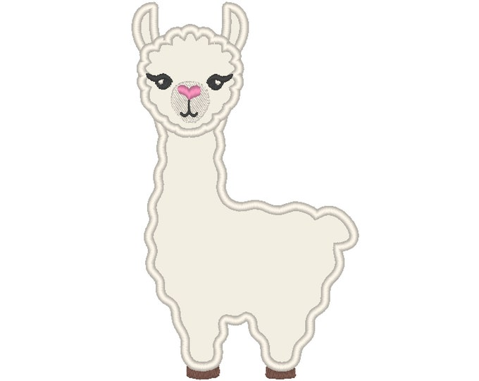 Lama, llama - machine embroidery applique designs - assorted sizes, download for hoop 4x4, 5x7, 6x10