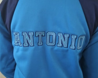 2 outlines fill stitch Athletic Varsity Collegiate block type Font machine embroidery designs sport alphabet capital letters and numbers