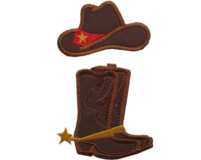 Cowboy or cowgirl MINI single designs - add-ons - machine embroidery applique designs - 2, 3 and 4 inches