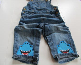 Walking loving shark awesome kids trousers bottoms decorations - machine embroidery applique designs ITH In the hoop project