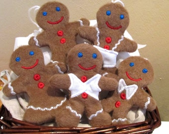 Christmas Gingerbread Easy In The Hoop Machine Embroidery and Applique designs for hoop 4x4, 5x7