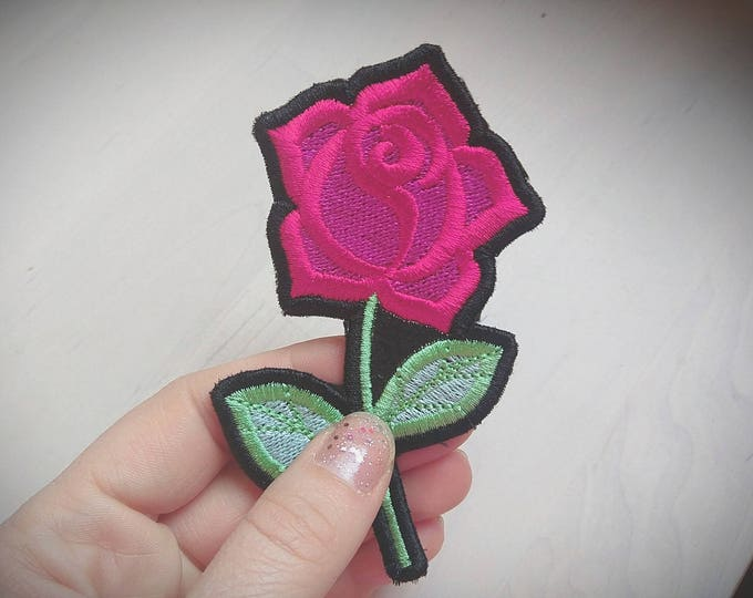 Rose patch - machine embroidery cute patch applique designs assorted sizes patch designs  INSTANT DOWNLOAD