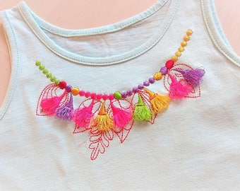 Necklace, neckline, leaves neckline designs,  feathers, Native American design, dream embroidery,  beautiful embroiery