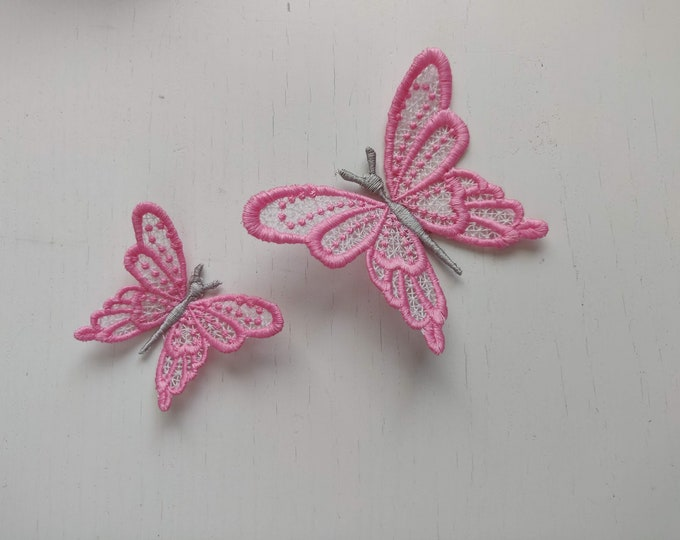 Cute FSL Butterfly Dimensional,  FSL, Free standing lace embroidery design in the hoop ITH embroidery 4x4 assorted sizes