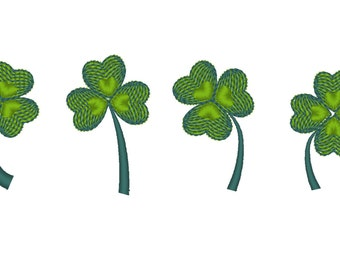 Clover - machine embroidery designs, many sizes INSTANT DOWNLOAD
