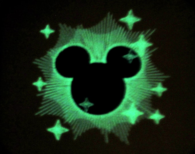 Mister Mouse Magic / Glow in the dark special designed machine embroidery / sizes 4x4 and 5x7 INSTANT DOWNLOAD
