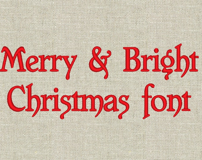 Christmas font Handwriting Satin curly Cute Font machine embroidery designs, monogram, alphabet, letters INSTANT DOWNLOAD assorted sizes