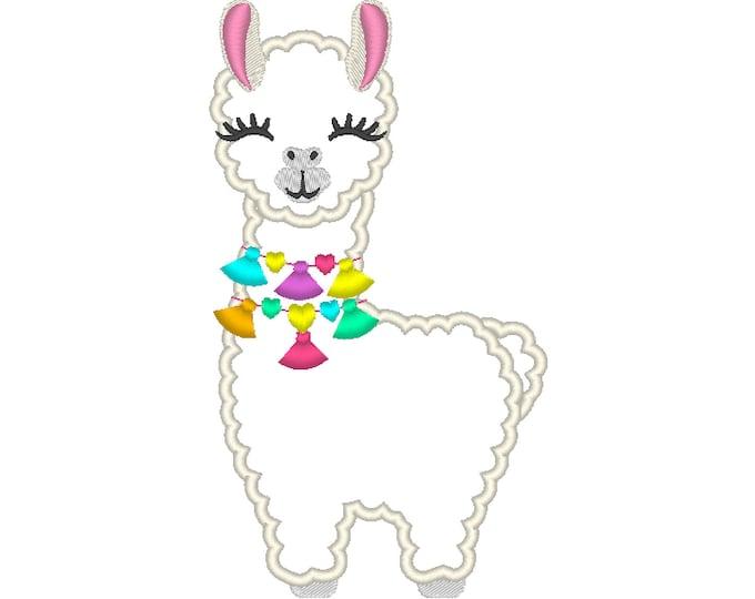 Lama with fringe fluffy tassels, Fringe tassel applique llama, Lama boho, tassel, llama, ITH In the hoop machine embroidery design