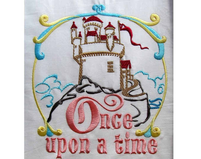 Fairy tale castle - machine embroidery designs - multiple sizes, for hoops 4x4, 5x7 and 6x10