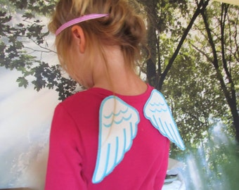 Angel wings, great for little baby angel tutu theme newborn, In The Hoop ITH project machine embroidery designs 4x4, 5x7 INSTANT DOWNLOAD