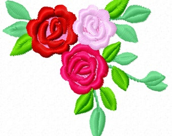 NEW Accent mini flowers, 5 TYPES, machine embroidery designs, Big set of various, many sizes, mini beautiful roses, rose embroidery