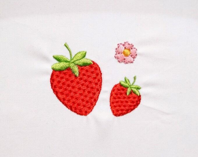 Mini strawberries, Strawberry , Strawberry mini flower, micro  machine embroidery designs