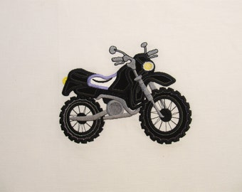 Motorcycle embroidery applique design 4x4, 5x7 and 610 - machine embroidery designs