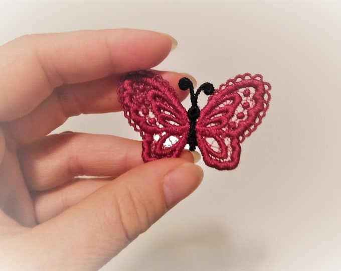 SMALL Butterfly Dimensional,  FSL, Free standing lace embroidery design in the hoop ITH embroidery 4x4 assorted sizes