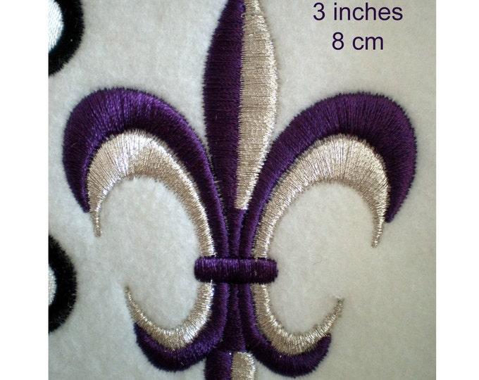 Fleur de Lis 2 colors- machine embroidery designs, INSTANT DOWNLOAD - multiple sizes for 4x4 hoop