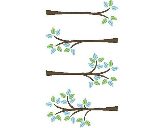 Tree branch - INSTANT DOWNLOAD machine embroidery fill stitch design - multiple sizes for hoop 4x4 and 5x7