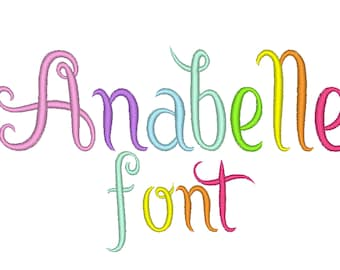 Satin tails Cute MINI Font machine embroidery designs, monogrammed, alphabet, letters Mini sizes BX also included
