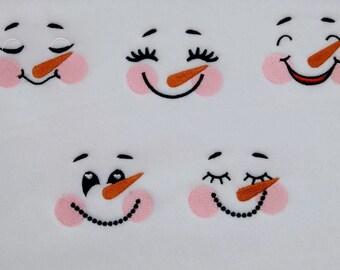 Cute Snowman faces set assorted sizes   embroidery applique designs - 4x4, 5x7 INSTANT DOWNLOAD