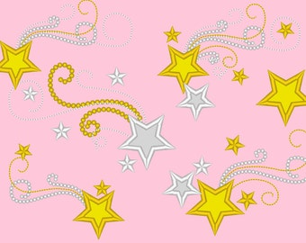Twinkle Twinkle Little Star for Birthday Shirts  - embroidery machine designs, add-ons, many sizes INSTANT DOWNLOAD