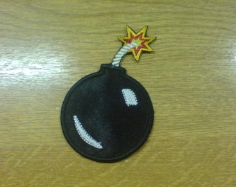 Bomb - machine embroidery applique designs for hoop 4x4, 5x7 and 6x10 INSTANT DOWNLOAD