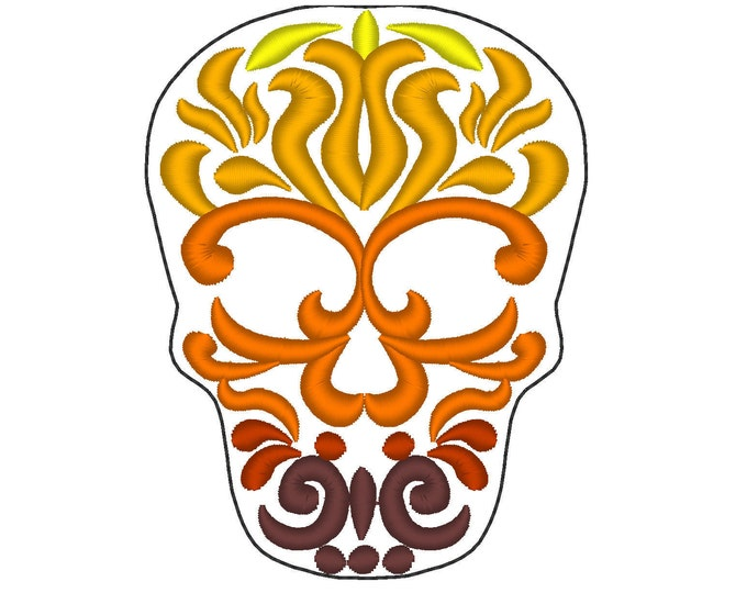 Day of the Dead multicolored Skull, Calavera, Sugar Skulls - embroidery designs assorted sizes  INSTANT DOWNLOAD