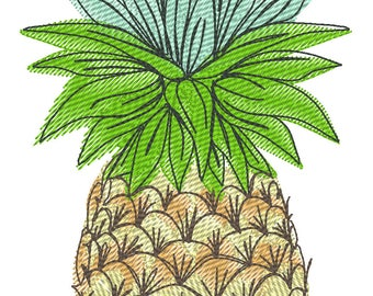 Cute awesome decorative Pineapple welcome flag decoration summer time machine embroidery designs in assorted sizes pineapple ananas fruit
