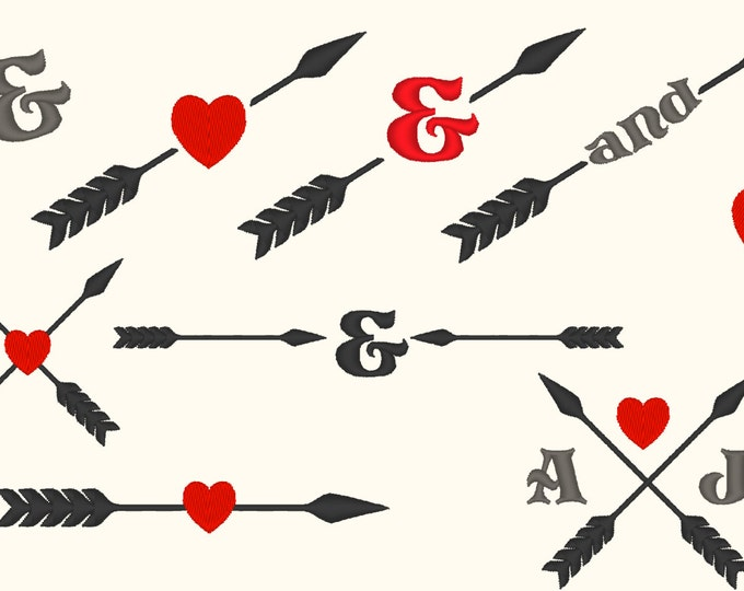 Arrows Aztec style wedding gifts monogramming set - machine embroidery designs INSTANT DOWNLOAD