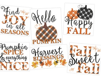Happy Pumpkin fall Autumn Thanksgiving Kitchen dish towel quotes 6pcs machine embroidery designs 4x4, 5x7 , 8x8 and pillows