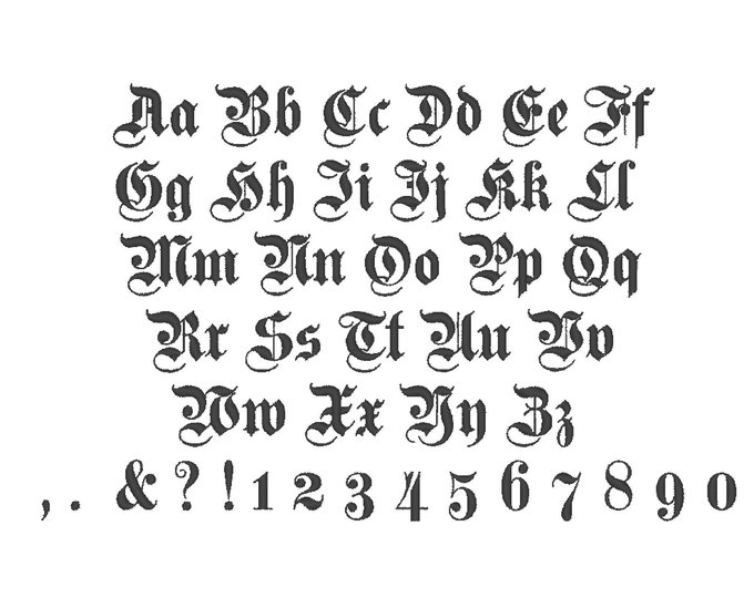 Tale, old English, Gothic, book, knight, old fashioned mini Font machine embroidery designs, monogram, alphabet INSTANT DOWNLOAD included BX