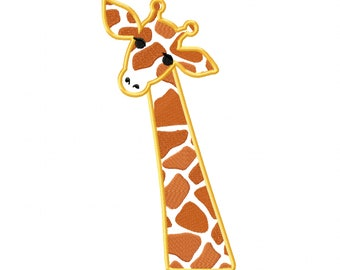 Giraffe head Little giraffe cure eyes embroidery applique designs assorted sizes for hoops 4x4 5x7 and 6x10