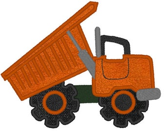 Dumptruck - machine embroidery applique and filled  designs - multiple sizes INSTANT DOWNLOAD  4x4,5x7, 6x10