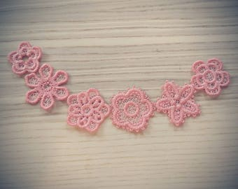 Mini delicate lace flowers 6 t collection  FSL flower mini, Free standing lace embroidery design 4x4 assorted sizes MINI project