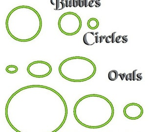 Bubbles, Cirles, ovals machine embroidery applique designs INSTANT DOWNLOAD