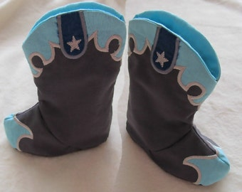 New ultimate designed Easy Baby Cowboy boots - In the hoop project - new technology - machine embroidery ITH designs 5x7 INSTANT DOWNLOAD