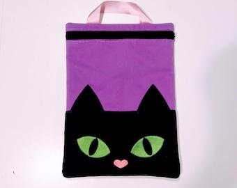 Cat zip bag, Envelope ITH, Pocket, ITH, bag, zip bag, In The Hoop Machine Embroidery designs In-The-Hoop 5x7 6x10 8x8 8x12