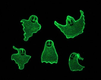 Ghosts / Glow in the dark special designed machine embroidery INSTANT DOWNLOAD
