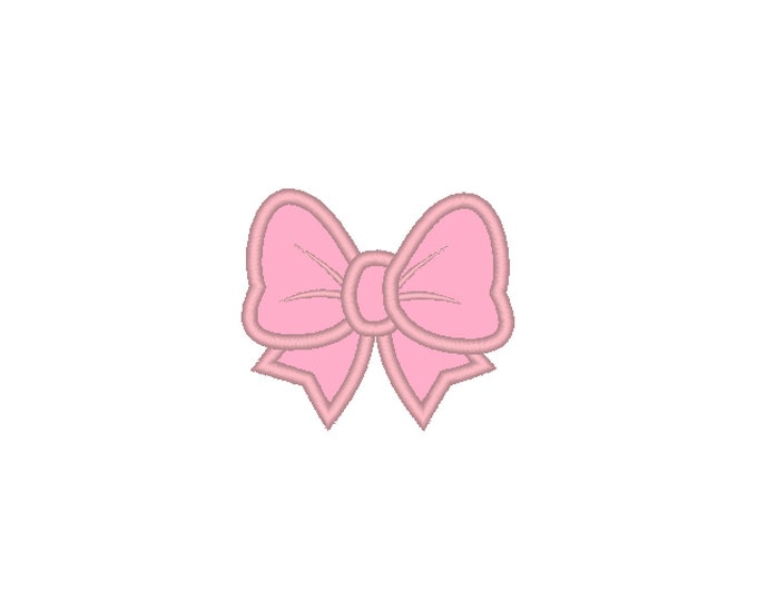 Little pretty Bow machine embroidery applique designs Bow applique embroidery designs for hoops 2, 3, 4, 5, 6 and 7 inches