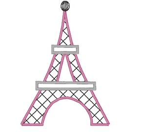 Eiffel tower - Paris - machine embroidery applique and fill stitch designs  - for hoops 4x4, 5x7 and 6x10