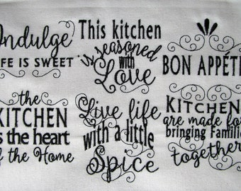 Machine embroidery designs kitchen | Etsy