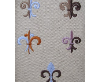 Fleur de Lis  5 types - machine embroidery design - download - in 4 sizes 1 and 1 1/2, 2 and 2 1/2 inches