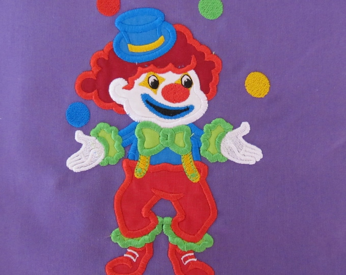 Clown little - machine embroidery applique designs - 4x, 5x7 and 6x10 INSTANT DOWNLOAD