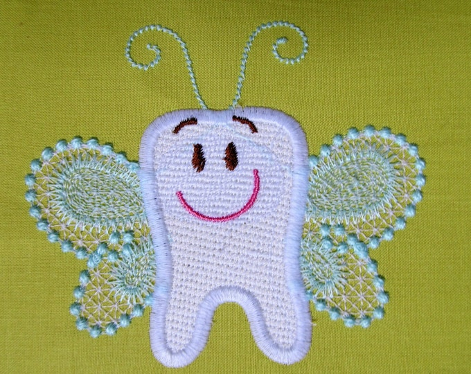 Tooth Fairy - machine embroidery applique designs, instant download - multiple sizes for hoops 4x4, 5x7
