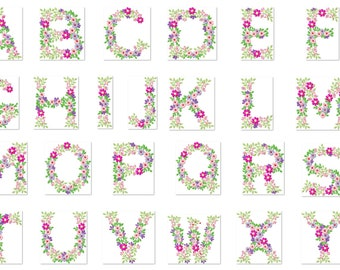 Alphabet Embroidery Etsy