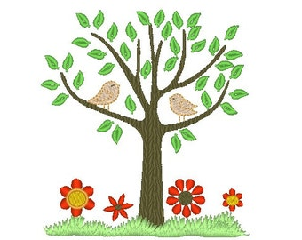 Tree Of Life with birds machine embroidery designs INSTANT DOWNLOAD - for hoop 4x4, 5x7 and 6x10