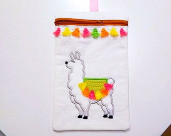 Llama  awesome Pouch, Envelope ITH, Pocket, ITH, bag, zip bag, In The Hoop Machine Embroidery designs In-The-Hoop 5x7 6x10