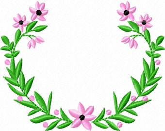 Wreath floral,  wreaths frame  - INSTANT DOWNLOAD machine embroidery fill stitch designs - assorted sizes for hoops 4x4 and 5x7
